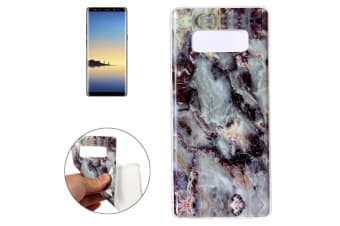For Samsung Galaxy Note 8 Back Case Marbled Durable Protective Cover Brown