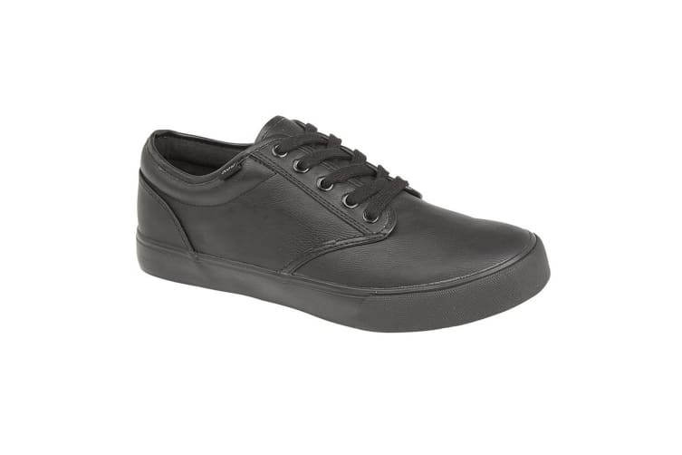 Dek Mens 4 Eye Lace Deck Shoes (Black) (3 UK)