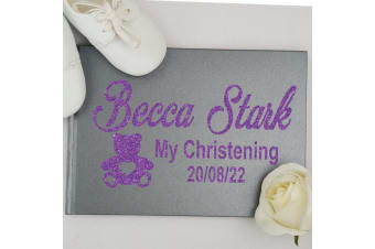 Christening Guest Book Keepsake Album - Grey A5