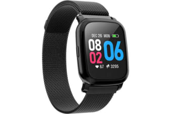 Bluetooth V5.0 Smart Watch Gps Track Heart Rate Blood Pressure 1.3&Quot; - Metal Black