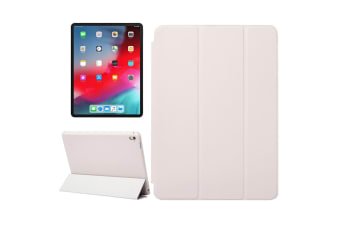 For iPad Pro 12.9 Inch (2018) Case Solid Color PU Leather Folio Cover White