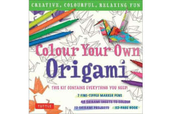 Colour Your Own Origami Kit - Creative, Colorful, Relaxing Fun