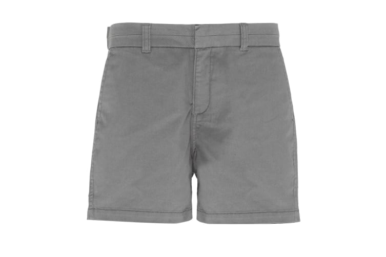 Asquith & Fox Womens/Ladies Classic Fit Shorts (Slate) (2XS)