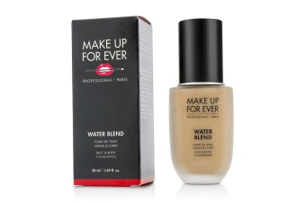 Make Up For Ever Water Blend Face & Body Foundation - # R370 (Medium Beige) 50ml