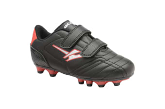 Gola Sport Childrens Boys Magnaz MLD Twin Bar Football Boots (Black/Red)