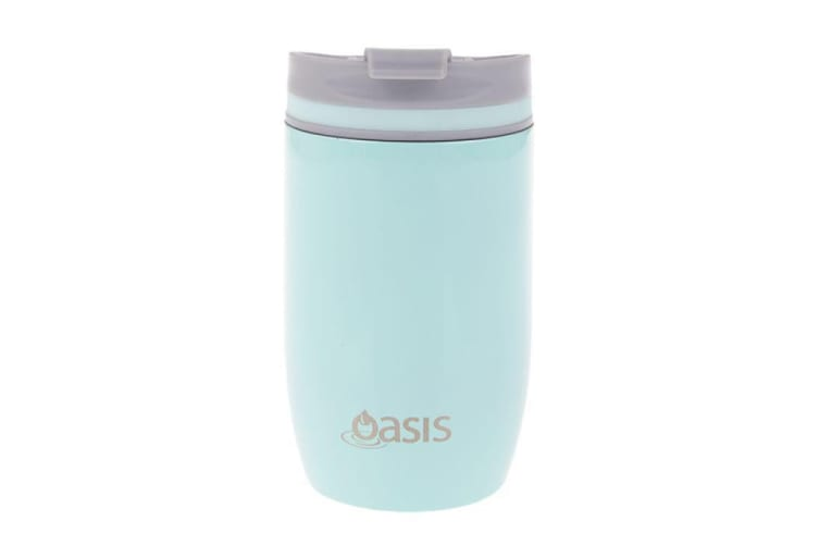 Oasis Stainless Steel Double Wall Insulated Travel Cup 300ml Spearmint