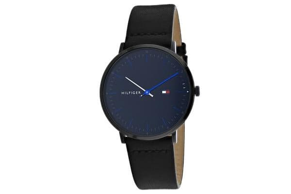 Tommy Hilfiger Men's James Watch (Blue Dial, Leather Strap)