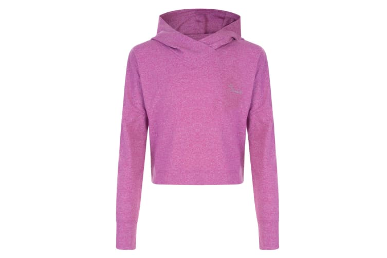 Dare 2B Childrens Girls Preconceive Cropped Hooded Sweatshirt (Camellia Purple) (34)