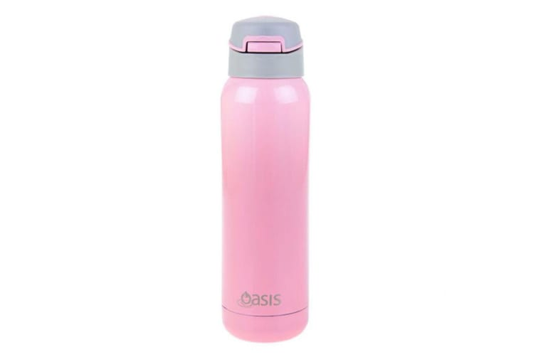 Oasis 500ml Stainless Steel Insulated Sports Drink Water Bottle w  Straw Pink