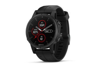 Garmin Fenix 5S Plus Sapphire Edition Black with Black Band