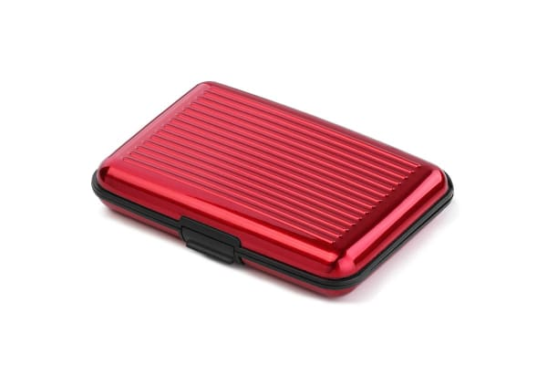 Aluminium Travel Wallet (Red)