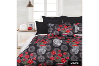 Devine Black Quilt Cover Set
