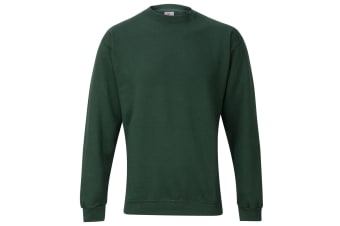 RTXtra Mens Classic Plain Crew Neck Sweatshirt Top (Bottle)