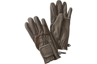 Harry Hall Adults Unisex Domy Suede Gloves (Brown)