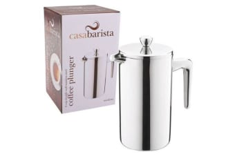 6 Cup Insulated Coffee Plunger French Press Stainless Steel Double Wall 800ml