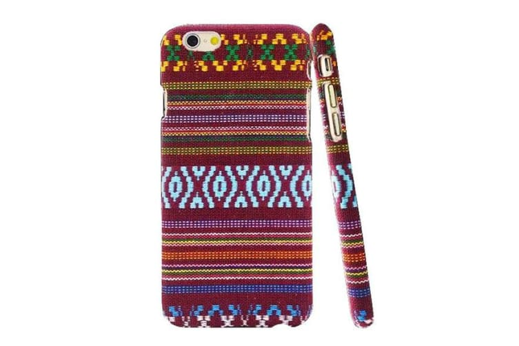 For iPhone 6S 6 Case Stylish Vintage Polyester Fabric Durable Protective Cover