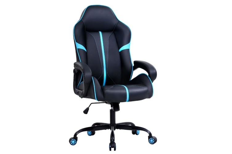 Artiss Gaming Office Chair Computer Chairs Leather Seat Racer Chair Blue