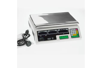 40kg Digital Kitchen Food Scale White