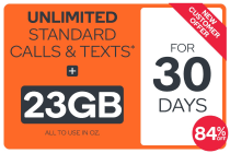 Kogan Mobile Prepaid Voucher Code: EXTRA LARGE (30 Days | 23GB)