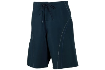 Tombo Teamsport Mens Unlined Board Shorts (Navy/Ice Blue)