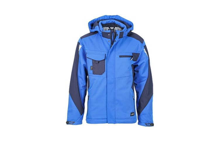 James and Nicholson Unisex Craftsmen Softshell Jacket (Royal Blue/Navy) (5XL)