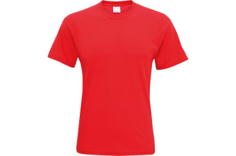 Mens Short Sleeve Casual T-Shirt (Bright Red) (XX Large)