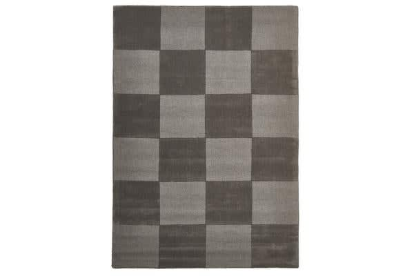 Wool Hand Tufted Rug - Box Smoke - 280x190cm