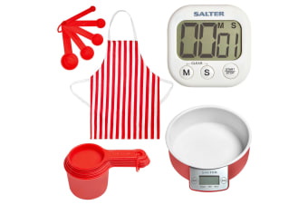 NEW Kitchen Scales Digital Timer, Food Scale, Measuring Set and Apron SALTER