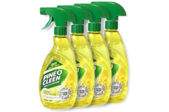 4x Pine O Cleen Lemon Lime 750mL/Multi Purpose House/Kitchen Cleaning Spray
