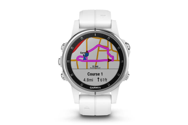 Garmin Fenix 5S Plus Sapphire Edition White with White Band