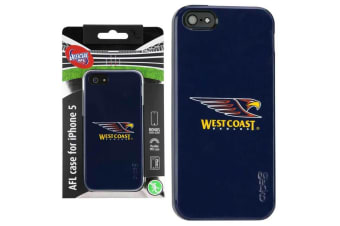 Gecko AFL West Coast Eagles Team Case for iPhone 5/5S/SE Case w/Screen Protector