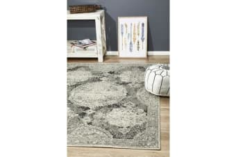 Hazel Charcoal & Grey Durable Vintage Look Rug 230x160cm