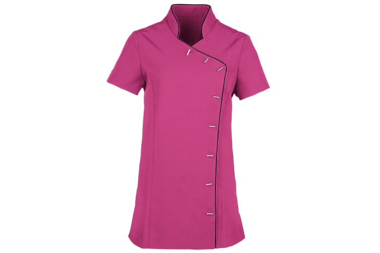 Premier Ladies/Womens *Lily* Tunic / Health Beauty & Spa / Workwear (Hot Pink / Black) (16)