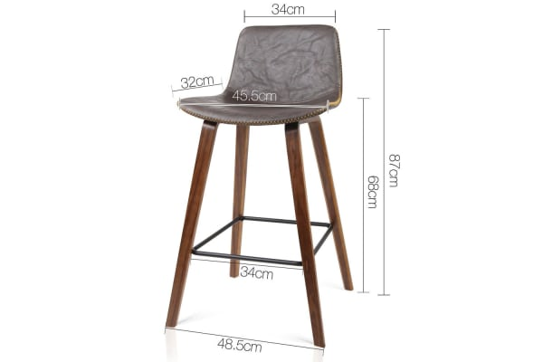 Set of 2 Bentwood Wooden Bar Stool