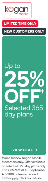 Up to 25% OFF Kogan Mobile 365 Day Plans