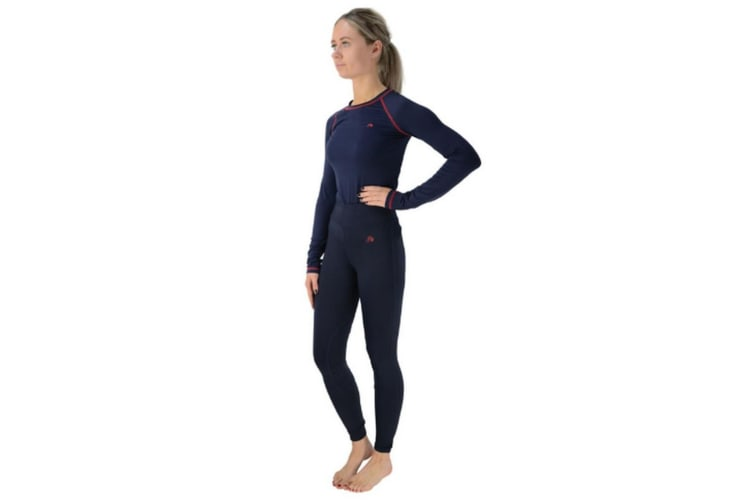 Hy Womens/Ladies Signature Riding Skin Bottoms (Navy/Red) (L)
