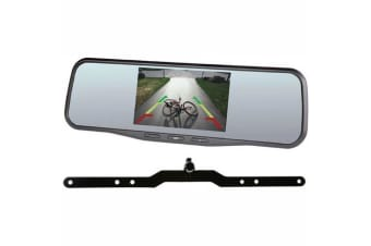 """GATOR HIGH RES CLIP ON 5"""" 125MM MIRROR MONITOR + STEALTH MOUNT REVERSING CAMERA"""