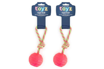 2PK Chew Rope Ball - Assorted Colour Randomly Selected