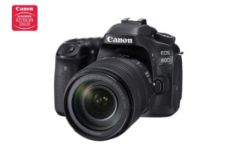Canon EOS 80D DSLR Camera with EFS18-135mm IS USM Lens