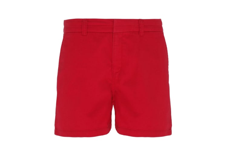Asquith & Fox Womens/Ladies Classic Fit Shorts (CherryRed) (2XS)