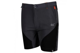 Regatta Childrens/Kids Sorcer Mountain Shorts (Seal Grey/Black) (7-8 Years)