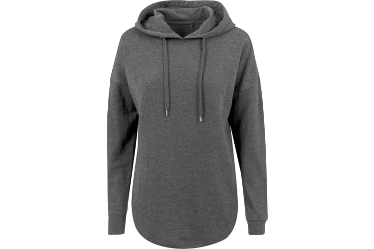 Build Your Brand Womens/Ladies Oversized Hoodie (Charcoal) (XS)