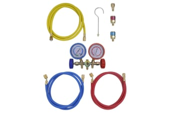 vidaXL 2-way Manifold Gauge Set for Air Conditioning