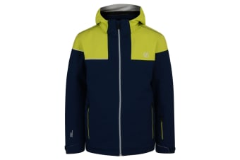 Dare 2B Childrens/Kids Entail Ski Jacket (Admiral Blue/Citron Lime) (14 Years)