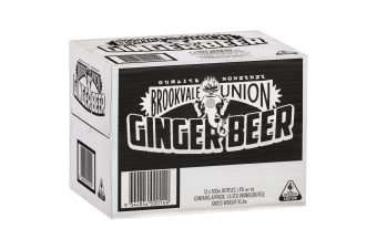 Brookvale Union Ginger Beer 12 Pack 500mL Carton
