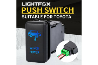 LIGHTFOX Winch Power Push Rocker Switch Suitable for TOYOTA Hilux Landcruiser OEM