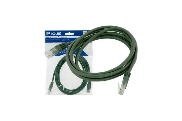Pro2 15M Green Cat5E Patch Lead