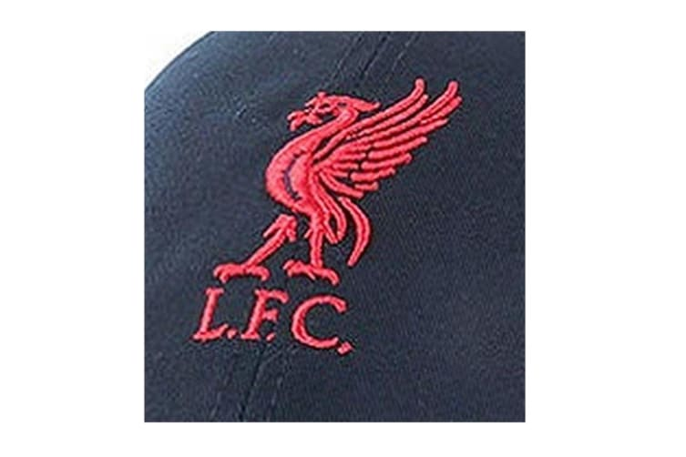 Liverpool FC Adults Official Football Crest Baseball Cap (Navy) (One Size)