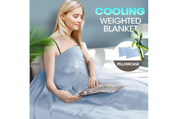 DreamZ 5KG Anti Anxiety Weighted Blanket Bamboo Fiber Cover Pillowcase Blankets