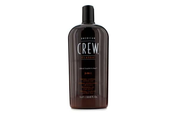 American Crew Men Classic 3-IN-1 Shampoo, Conditioner & Body Wash (1000ml/33.8oz)